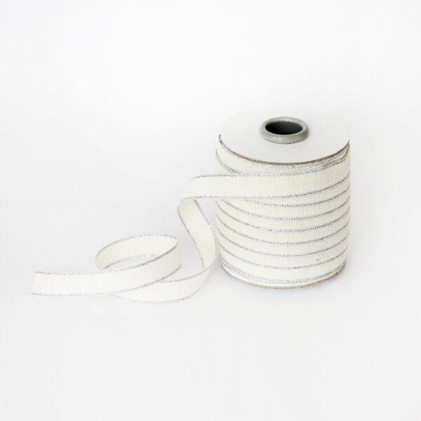 Studio Carta Drittofilo Cotton Ribbon - Natural & Silver