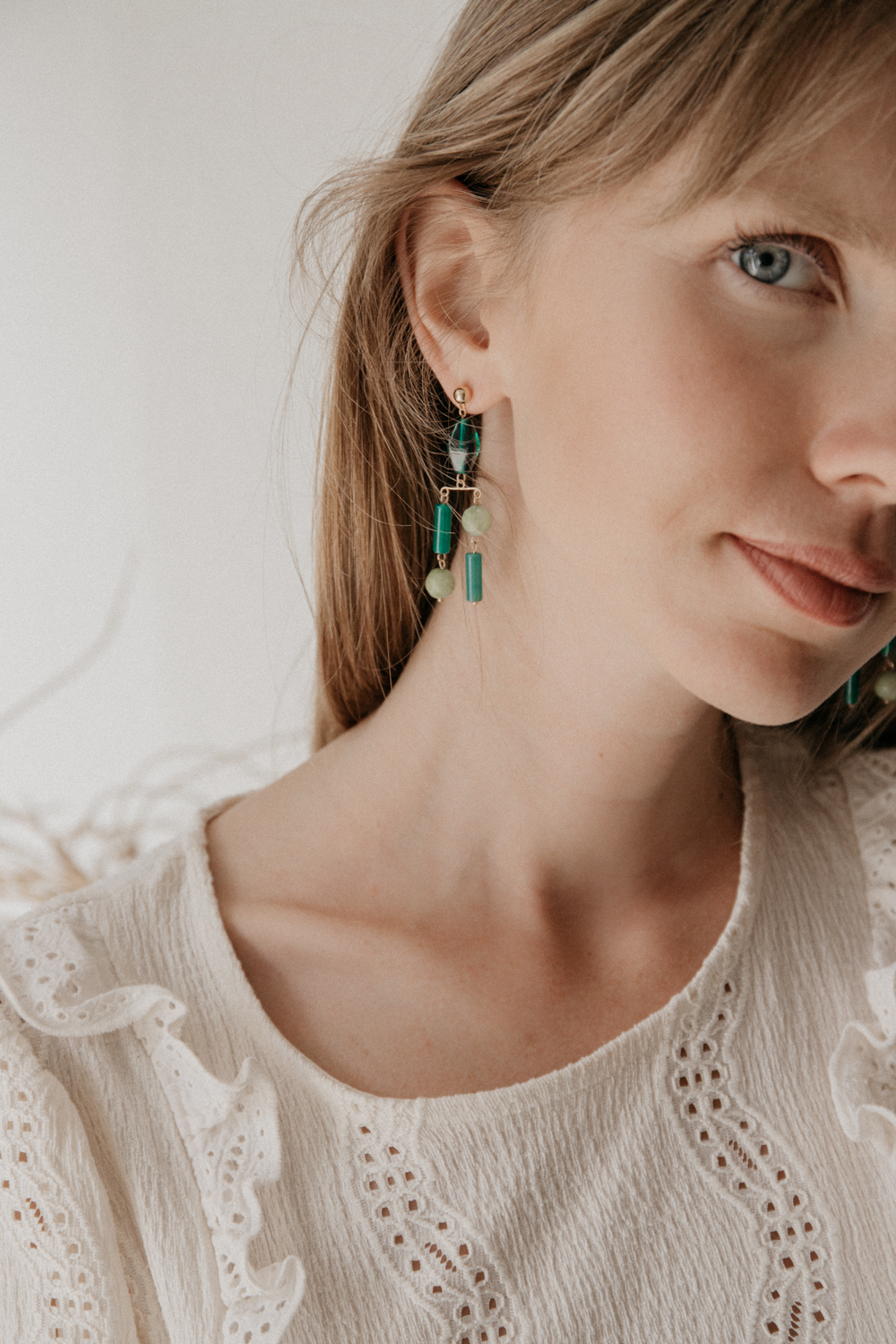 Lustre Vert Earrings