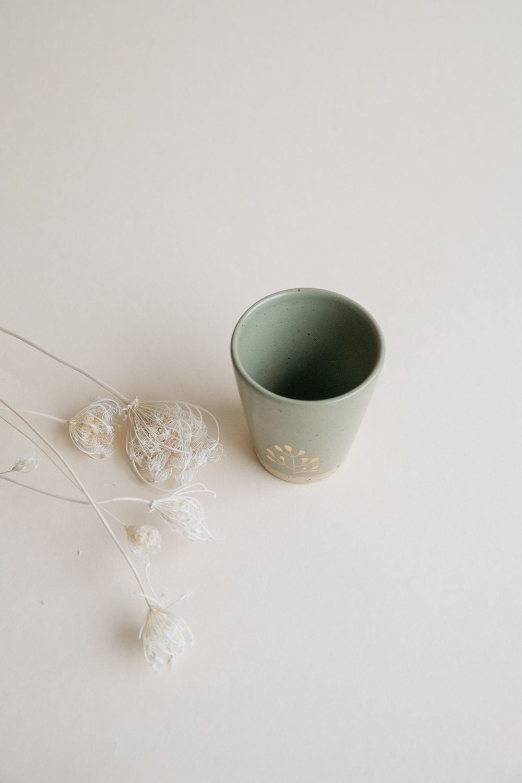 Marinski Handmade Ceramic Cup - Olive Green