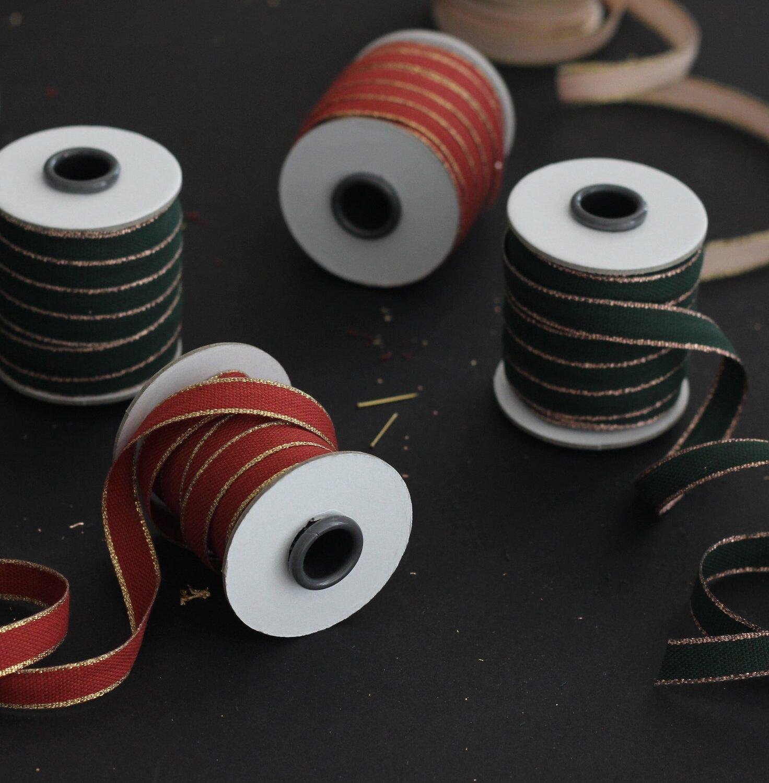 Studio Carta Drittofilo Cotton Ribbon - Brcik & Gold