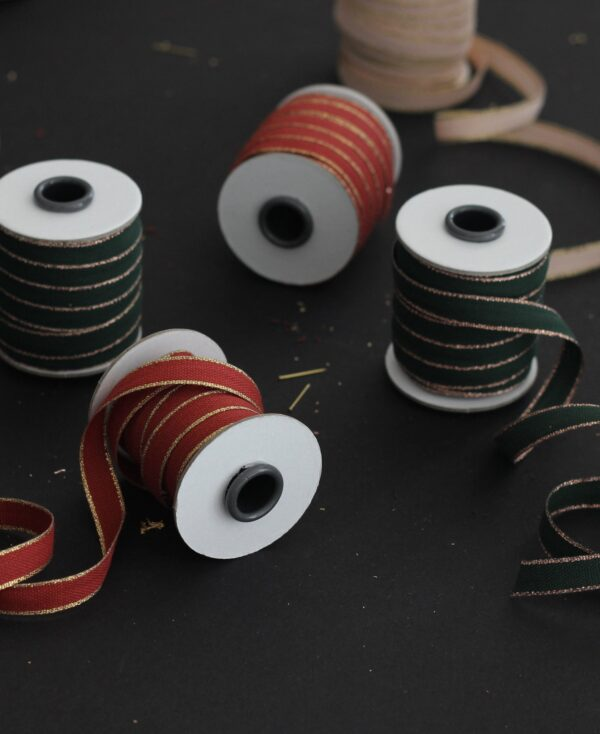 Studio Carta Drittofilo Cotton Ribbon - Brcik & Gold