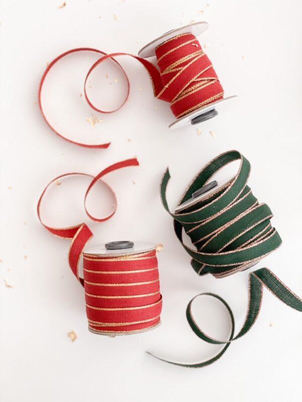 Studio Carta Drittofilo Cotton Ribbon - Cypress & Rose Gold