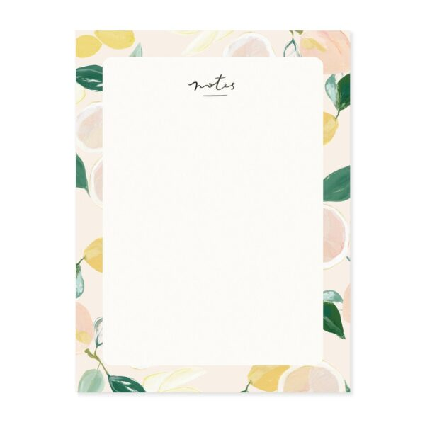Citrus Blank Everyday Notepad