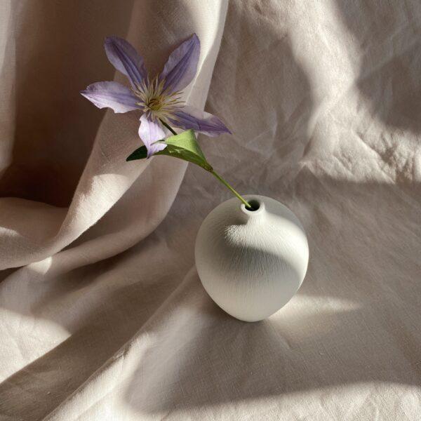 Ebba Medium Ceramic Vase - White