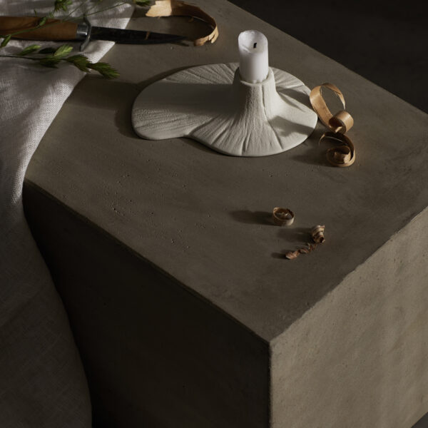Stam Candle Holder - Cream White