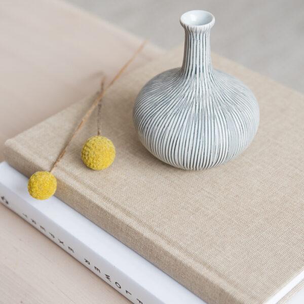 Athen Small Ceramic Vase - Striped