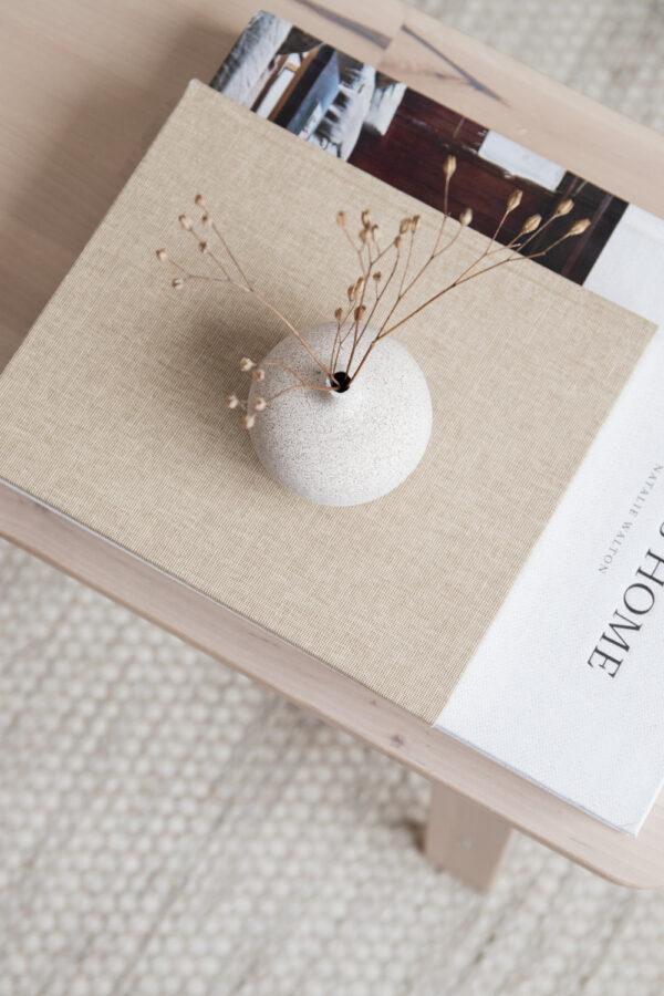 Bari Small Ceramic Vase - Sand