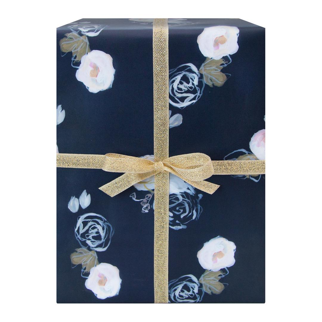 Blue Florals Wrapping Paper Set of 2