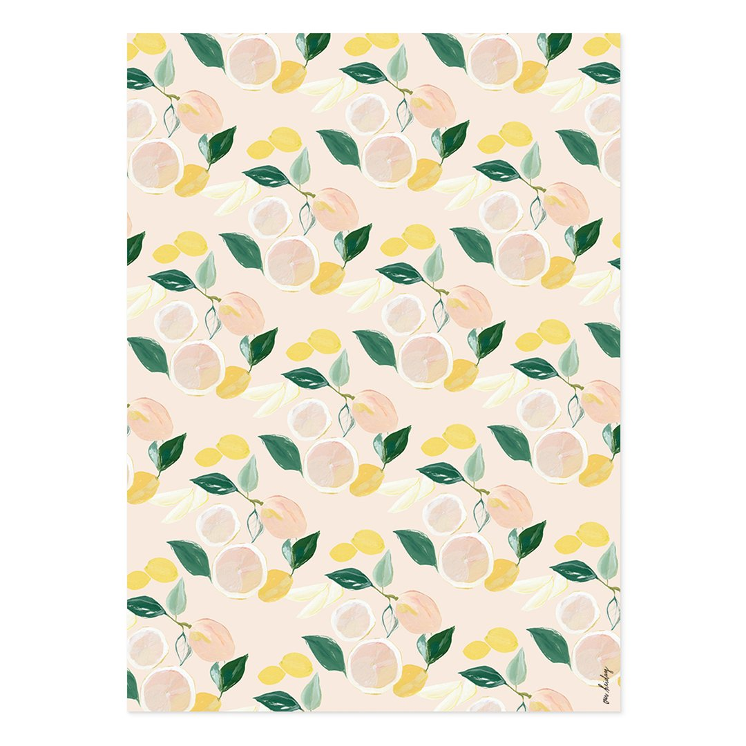 Citrus Wrapping Paper Set of 2