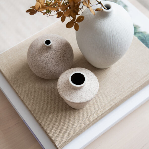 Ebba Medium Ceramic Vase - White
