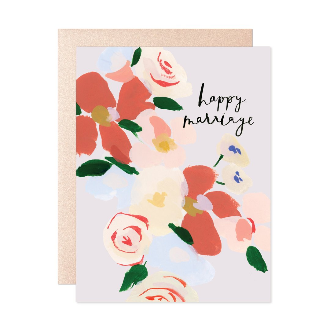 Happy Marriage Bouquet Card