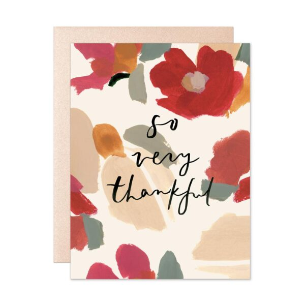 So Very Thankful Marigold Card