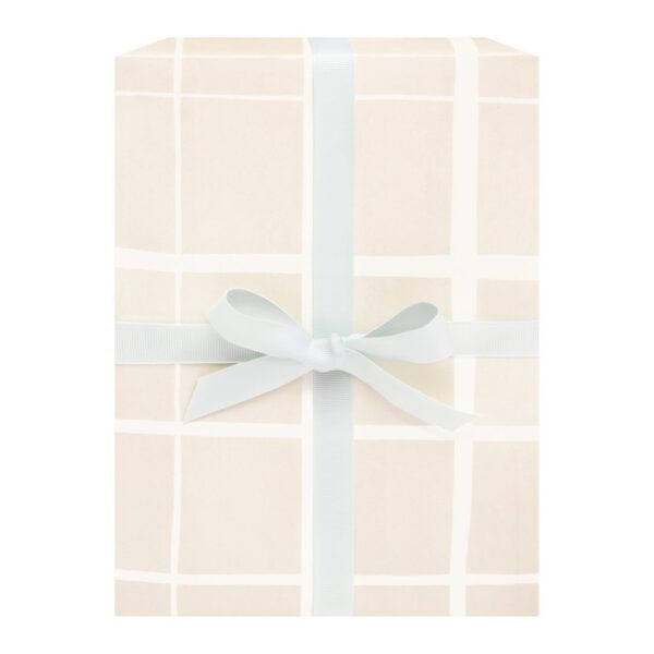 Honey Grid Wrapping Paper Set of 2