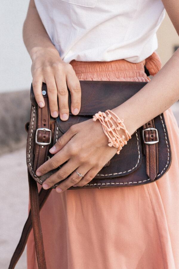 Crochet Multi Strand Necklace