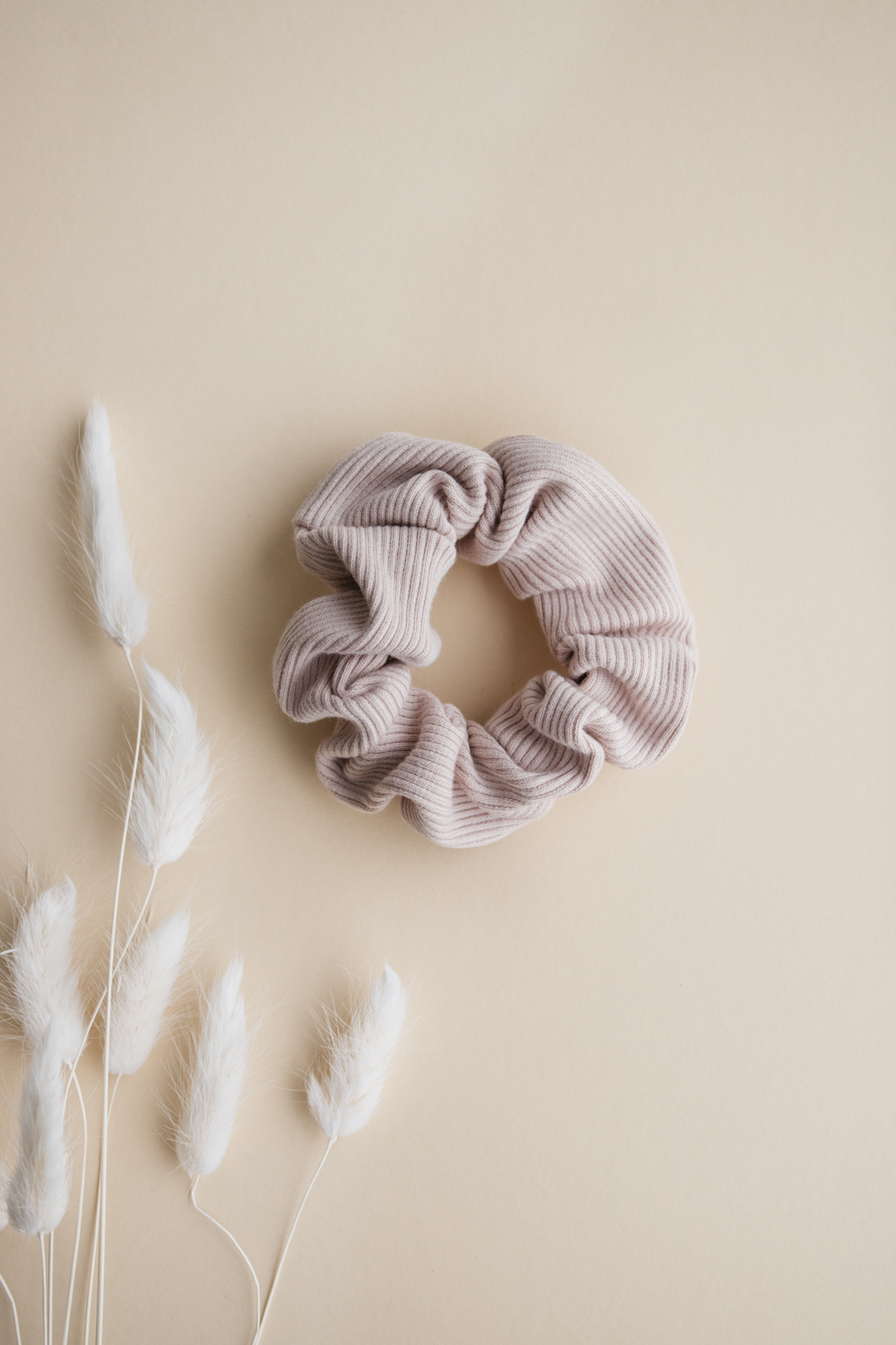 Blush Rib Cotton Scrunchie