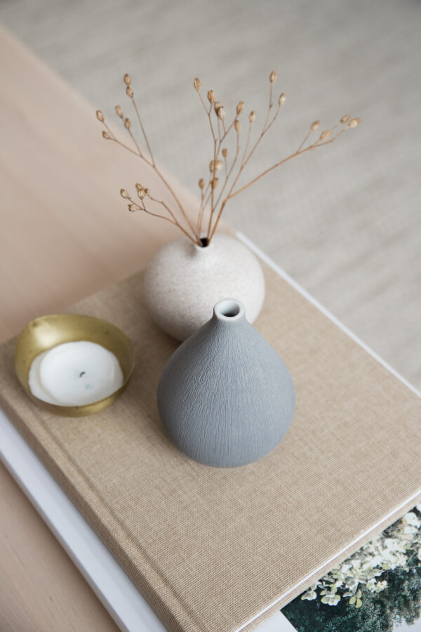 Kobe Ceramic Vase - Light Gray