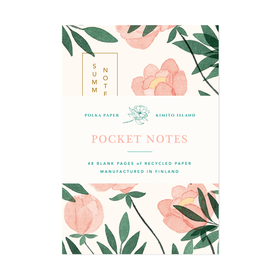 Peony Pocket Notebook