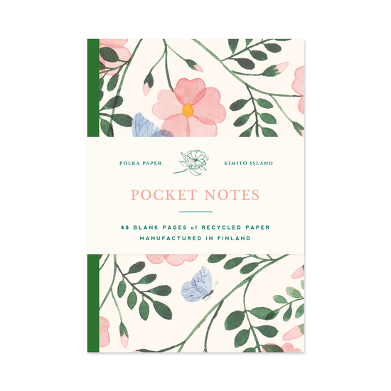 Wild Rose Pocket Notebook