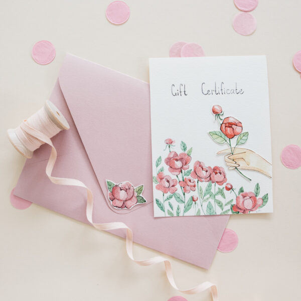 *Special* Home & Fleur Hand-painted Gift Certificate - Peonies