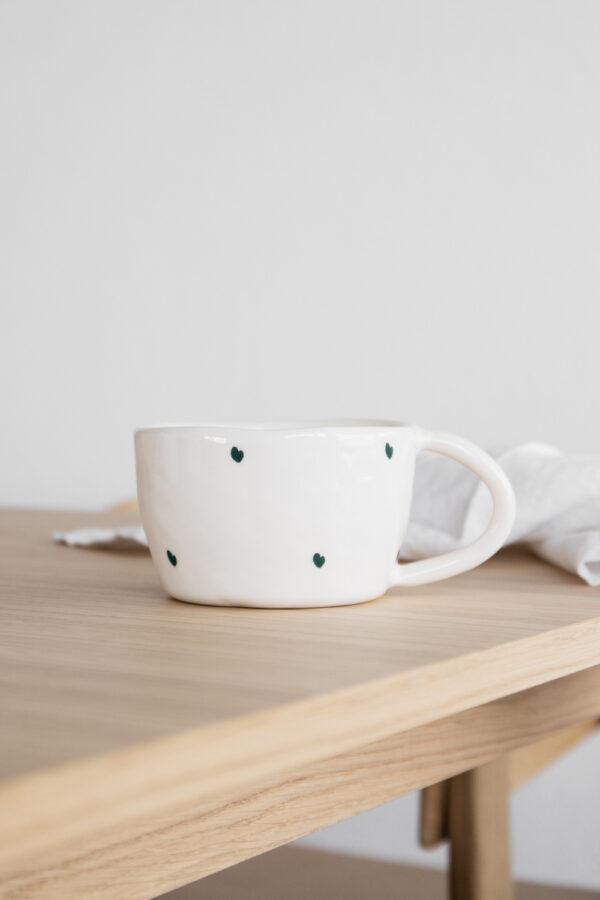 Terra Handmade Ceramic Mug - Blue Hearts