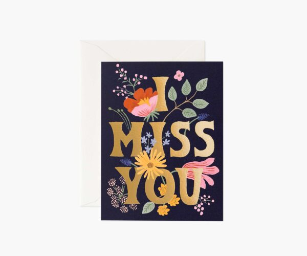 """Rifle Paper Co. """"I Miss You"""" Greeting Card"""