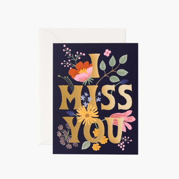 "Rifle Paper Co. ""I Miss You"" Greeting Card"