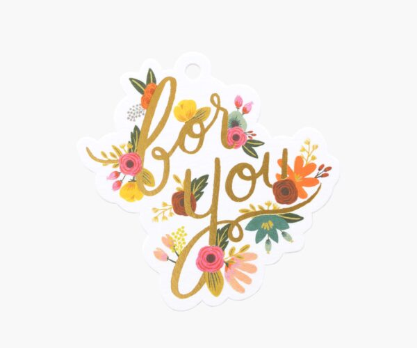 """Rifle Paper Co. """"Mint Floral"""" Gift Tag Set"""