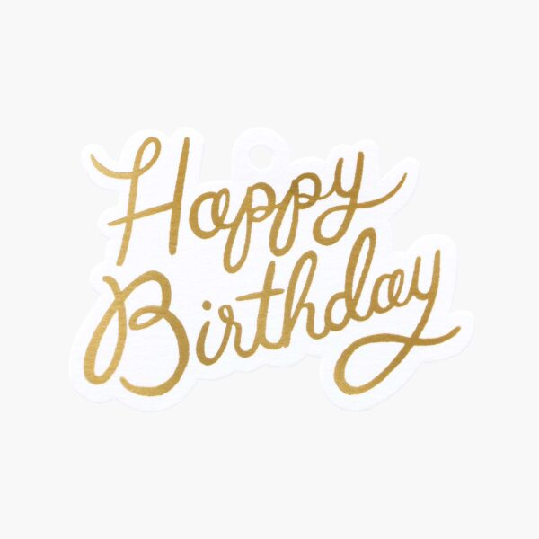 "Rifle Paper Co. ""Happy Birthday"" Gift Tag Set"