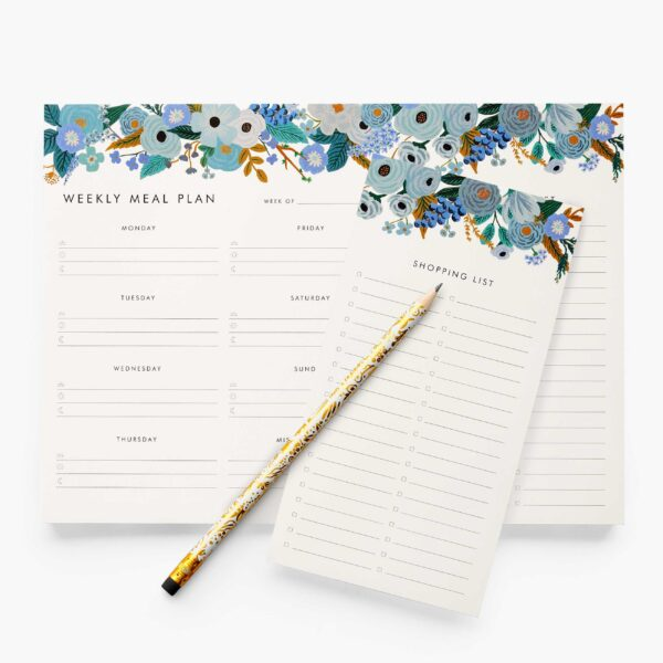 "Rifle Paper Co. ""Garden Party Blue"" Weekly Meal Planner"