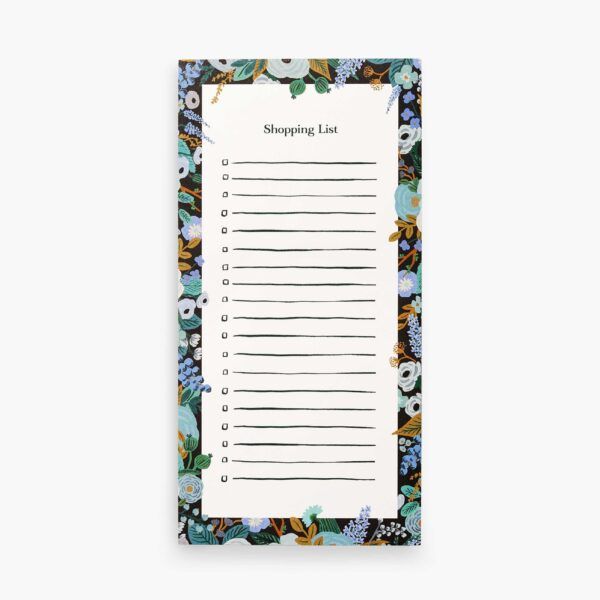 "Rifle Paper Co. ""Garden Party Blue"" Shopping List Notepad"