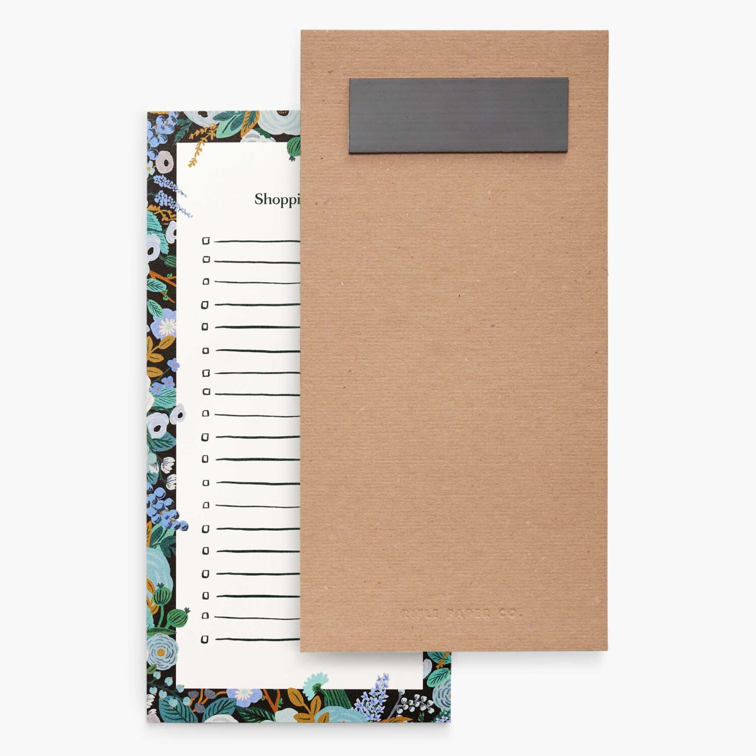"""Rifle Paper Co. """"Garden Party Blue"""" Shopping List Notepad"""