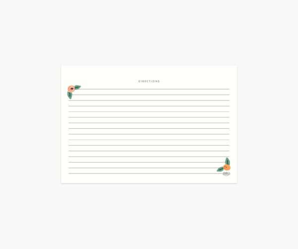 "Rifle Paper Co. ""Kitchen Shelf"" Recipe Card Set of 12"
