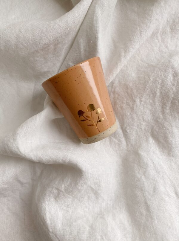Marinski Handmade Ceramic Cup - Yellow Gold