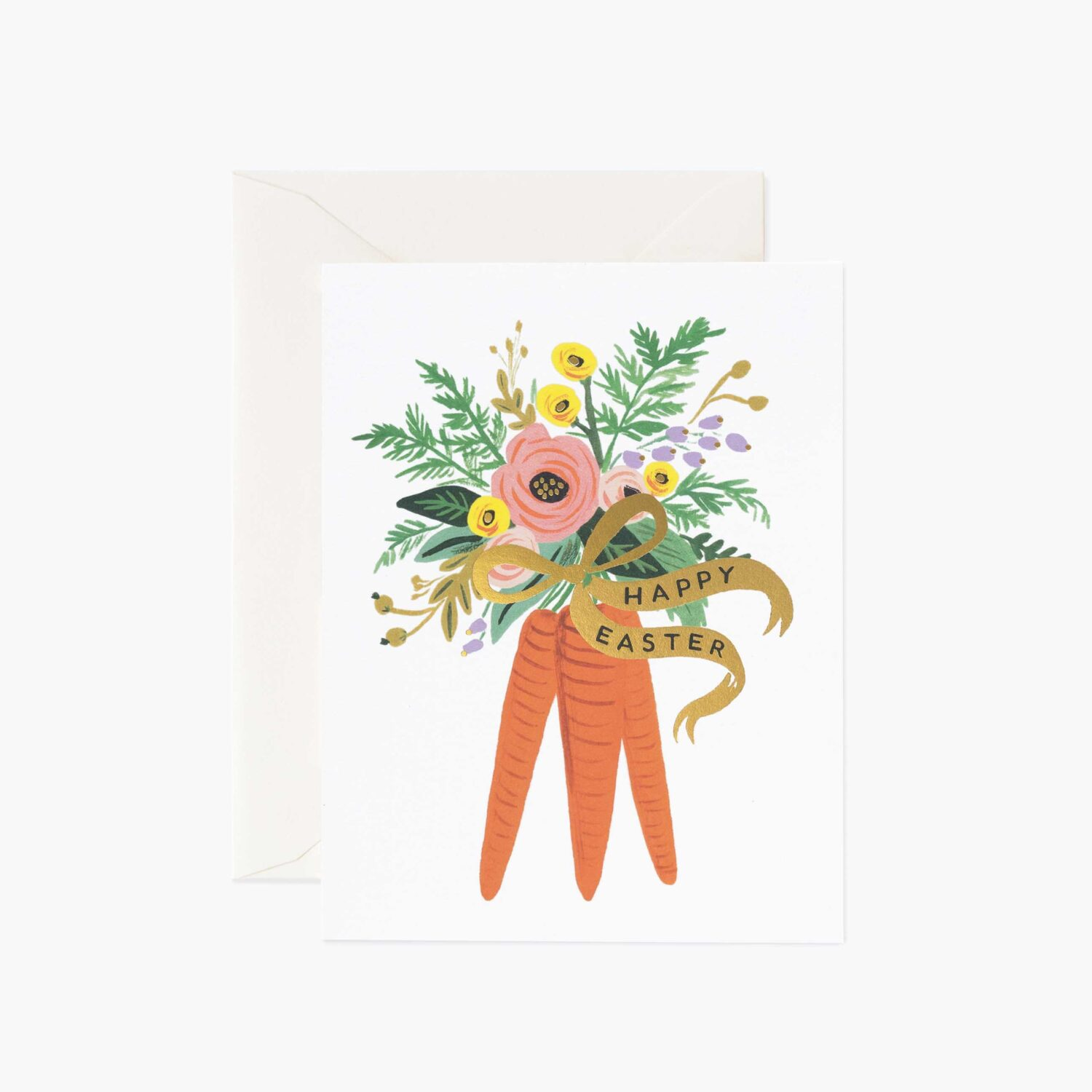 """Rifle Paper Co. """"Carrot Bouquet"""" Easter Card"""