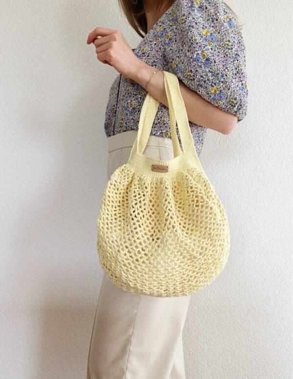 Crochet Net Bag - Lemon