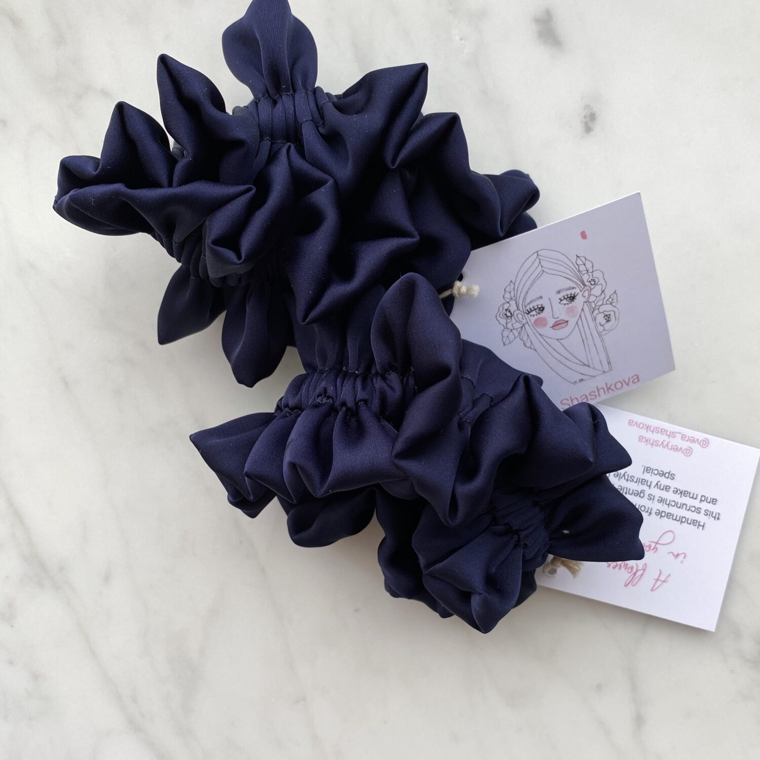 Silk Hair Scrunchie - Blueberry