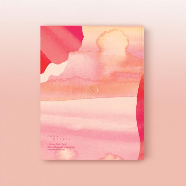 "Common Modern ""Ginkgo Soleil"" Artist Sketchbook - Sunset"