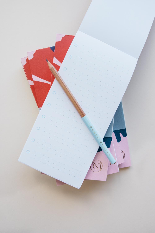 Common Modern Ginkgo List Notepad - Amalfi