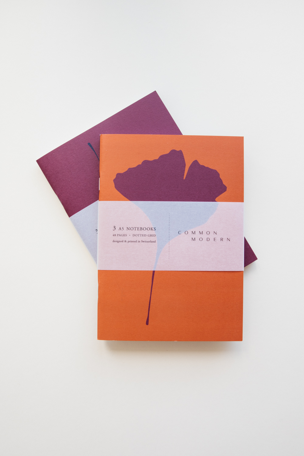 """Common Modern """"Ginkgo Hiver"""" A5 Notebook Trio Set"""