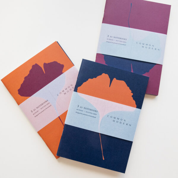 "Common Modern ""Ginkgo Hiver"" A5 Notebook Trio Set"