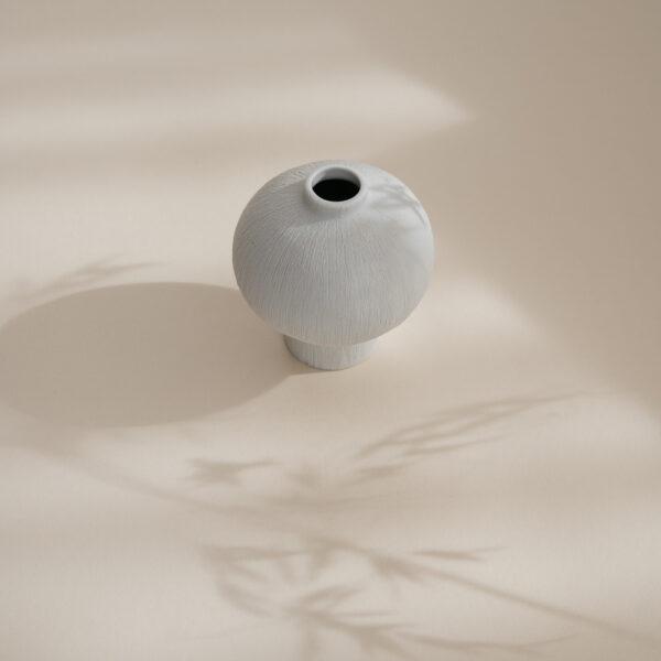 Cecilia Ceramic Vase - White