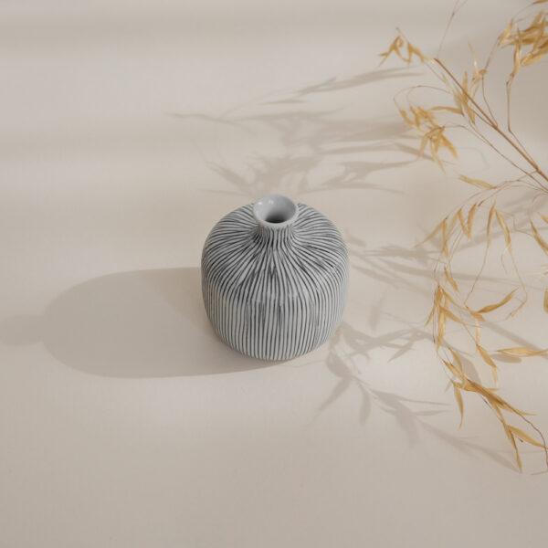 Bottle Small Ceramic Vase - Striped