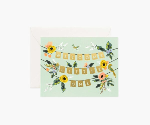 """Rifle Paper Co. """"Welcome Garland"""" Greeting Card"""