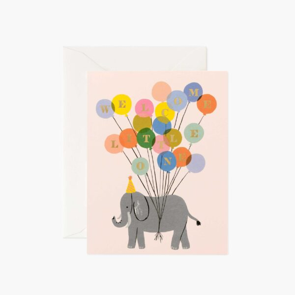 "Rifle Paper Co. ""Welcome Elephant"" Greeting Card"