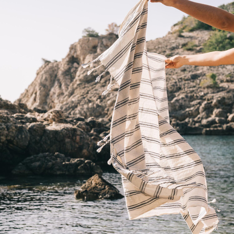Handwoven Beach Towel - Sapphire