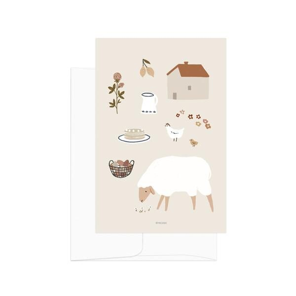 Simple Life Sheep Card