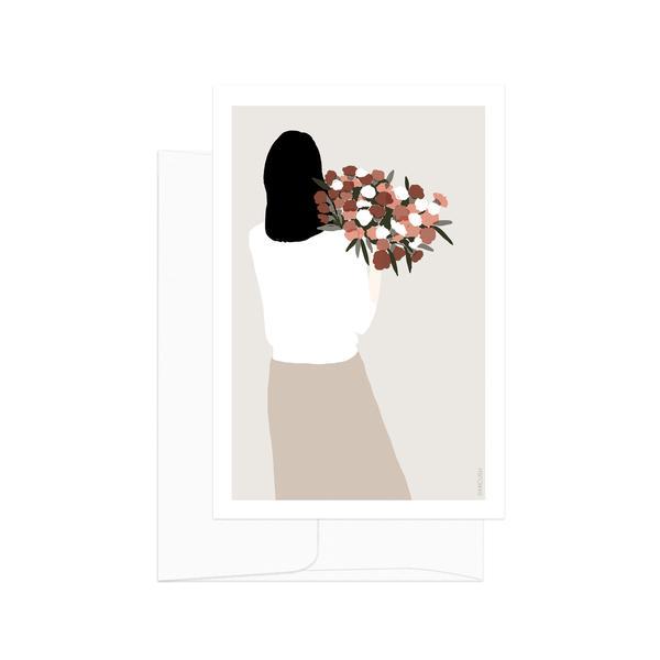 Flower Lady Backside Bouquet Card