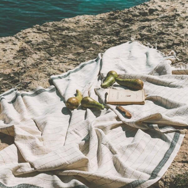 Handwoven Beach Towel - Bahia Black