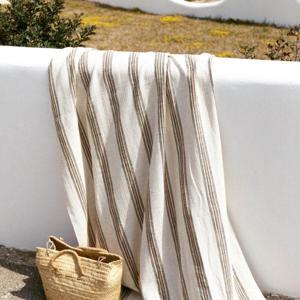 Handwoven Beach Towel - Apricot