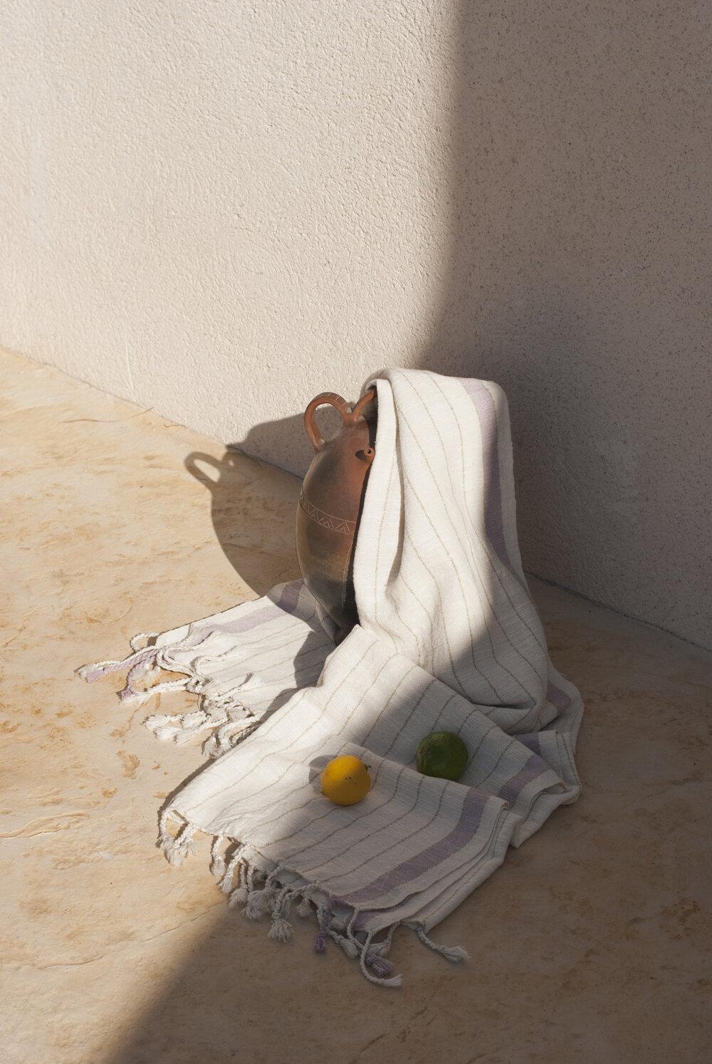 Handwoven Beach Towel - Bahia Lavender